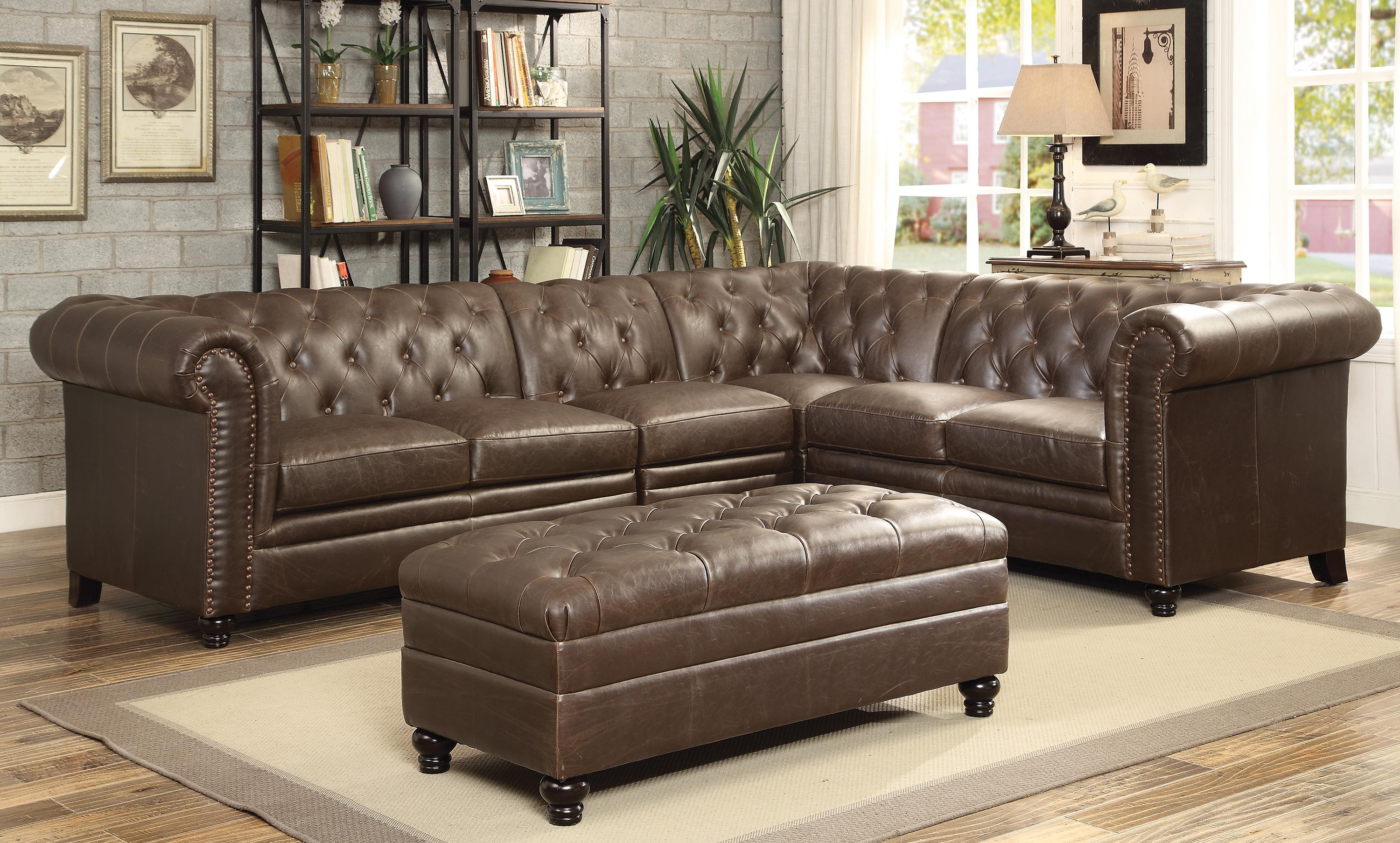 al by custom banner stationary sectionals sectional luxury leather sofas american distressed