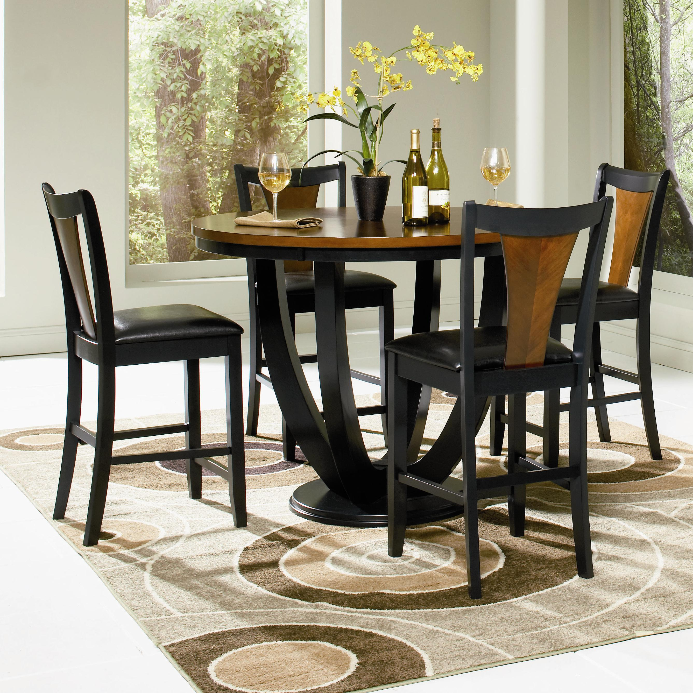 : 5 piece black pub table set - pezcame.com